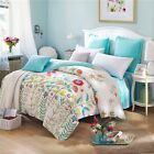 Florals Quilt Duvet Doona Cover Set 100% Cotton Double Queen King Bed Size Linen