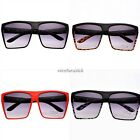 Unisex Retro Men Women Square Shape Oversized Frame Eye Glasses Sunglasses N4U8