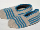 "Hand Knitted 100% Wool Socks SLIPPERS For Boy Women Men (about 8 1/2"" long) V3"