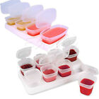 Baby Weaning Food Freezing Cubes Tray Pots Freezer Storage Plastic Containers