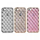 Harmony Quilted 3D Pattern Slim Silicone Gel Back Case Cover  iPhone 5 / 5s / SE