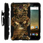 FOR SAMSUNG GALAXY PHONES CASE RUGGED ARMOR HYBRID HOLSTER - Deer Hunting Camo