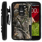 For LG Optimus Case Phones Holster Clip Armor Stand Tree Wood Hunting Camo Cover