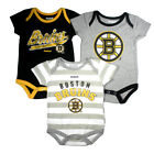 Boston Bruins Infant Baby 3-Piece Creeper Romper Bodysuit Gift Set