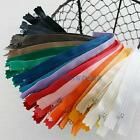 "10Pcs Approx 8""-9"" 9 Colors Nylon Zippers Coil Closed Cloth Tailor Sewing Craft"