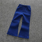 Fashion Girls Jeans Vintage Kids Baby bell-bottoms Trousers Wide leg Pants