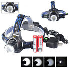 5000LM Cree XML T6 LED Headlamp Headlight Head Lamp Torch +18650 Battery Charger