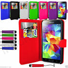 PU Leather Wallet Flip Mobile Phone Case For Samsung Galaxy S5 Neo Mini Pen