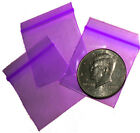 "Purple baggies 1.5 x 1.5"" Apple reclosable mini ziplock bags 100 200 500 1000"