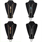 Fashion  Multilayer Metal Chain Collar Women Necklace Earring Jewelry Party 2016