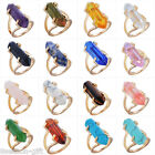 Gift Natural Stone Gold Imitation Crystal Stone Ring Jewelry Gift US 7