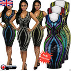 Fashion Womens Dress Bandage Cocktail Sleeveless Bodycon Evening Party Dresses