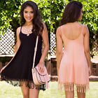 2016 New Summer Womens Tassels Dress Sleeveless Casual Beachwear Mini Dresses