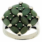 .925 Sterling Silver 2.96 Ct Emerald Ring
