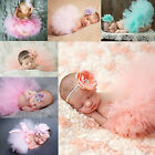 Cute Newborn Baby Tutu Clothe Skirt Girl Headdress Flower Photo Prop Outfits Set