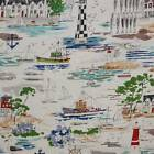 THE HARBOUR SHIPS BOATS ALEXANDER HENRY QUILT SEWING FABRIC Free Oz Post *