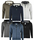 Mens Fleece Hoodied Zip Up Sweat Jumper Smart Casual Jacket  Big Size 2-8XL
