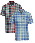 Pack of 2 Mens Champion Radstock 100% Cotton Country Casual Short Sleeved Shirt
