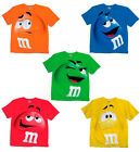 Adult & Youth Kids M&M's M&M Face Chocolate Candy Costume T-Shirt Tee M M shirt image