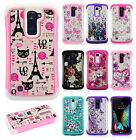 For LG Premier LTE HYBRID IMPACT Hard Dazzling Diamond Case Cover +Screen Guard