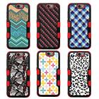 For LG G Stylo 2 Plus NATURAL TUFF Hybrid Rubber Hard Case Red Black 7Colors