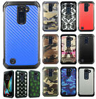 For LG Premier LTE Rubber IMPACT TRI HYBRID Case Protector Skin Phone Cover