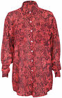 Womens Long Sleeve Snakeskin Animal Print Ladies Button Chiffon Blouse Shirt Top