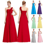 1 Shoulder Chiffon Bridesmaid Wedding Dress Prom Evening Long Maxi Formal Empire