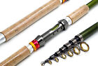 Full Metal Telescopic Wood Fishing Rod Carbon Fiber Saltwater Fishing Pole R2