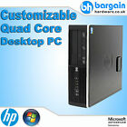 Fast HP 6000 Pro Customizable Quad Core / Dual Core RAM Windows 7 SFF Desktop PC