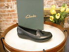 Clarks Black Leather Ashland Bubble Loafer New