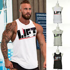 Men Sport Muscle Bodybuilding Gym Tank Tops Cotton Tight Sleeveless Vest Tops MO