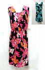 Croft & Barrow womens Summer Bouquet Floral mock-layer pull-on Dress S L NEW