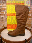 Bare Traps Sheridan Auburn Brown Ruched Riding Boot NEW