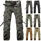 NEW Men's Design Casual Slim Fit Straight Leg Military Work Cargo Pants Trousers