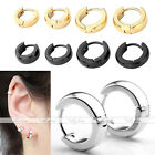 2pc Mens Womens Stainless Steel Hoop Huggies Ear Helix Studs Earrings Piercing