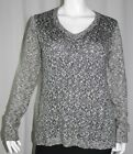NWT MAURICES woman FASHION long sleeve Vneck mix stitch pullover SWEATER XXL