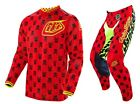 NEW 2016 TROY LEE DESIGNS GP AIR ANARCHY GEAR COMBO RED/ FLO YELLOW SIZE 30/MED