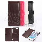 Genuine Leather Flip Shaping Kickstand Case Cover For iPhone 6 / 6S 4.7 5.5