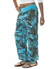 New Womens Italian Lagenlook Quirky Layering Paisley Print Harem Pants 8 10 12
