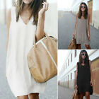 New Fashion Chiffon Women's Clothing sexy sleeveless Loose Dovetail dress 1PC