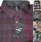 *NWT* Men\'s Calvin Klein Lifestyle-Button-Up Long Sleeve-Dress Shirt-Spread