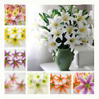 10/100pcs Lot Artificial Lily Silk flower Heads DIY Assembled Party Decoration