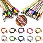 Universal Fast Data Micro USB A to USB 2.0 B Braided Sync Charger Cable Cord Lot