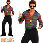 Disco Fever Mens Fancy Dress 1970s 70s Groovy Funky Adults Costume Outfit New