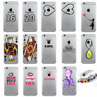 Ornamental Adorable Printed Clear Hardshell Cover Case For Apple iPhone Series
