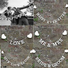 Rustic Wedding Mr Mrs & Just Married Hessian Burlap Bunting Banner Photo Props