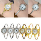Fashion Steel Wire Crystal Quartz Bracelet Bangle Wrist Watch for Women