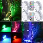4×10 Submersible LED Waterproof Light RGB for Vase Wedding Party Fish Tank decor
