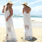 Occident New Style Ladies Patchwork Lace Straps Maxi Backless Beach Dress UR